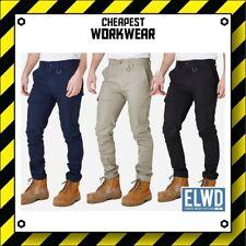 ELWD | Elwood Workwear | Mens Slim Pants (Navy, Khaki, Black) not FXD CAT