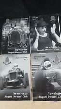 BUGATTI NEWSLETTER MAGAZINE FULL YEAR 4 ISSUES 2009