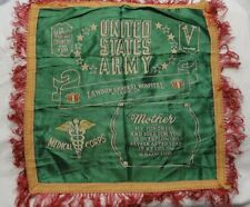 WWII US Army Medical Corps Pillow Cover Lawson General Hospital Mother/Victory