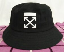 New OFF WHITE Black Bucket Hat Summer Outdoor Cap Casual Style Unisex