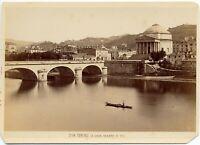 Torino La Gran Madre Foto Cabinet originale all'albumina Brogi 1875c S1442