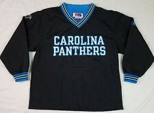 CHAMPION NFL PRO LINE Mens Nylon Pullover CAROLINA PANTHERS XL Long Sleeve BLACK