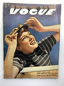 VOGUE Magazine 1937 August COMPLIMENTARY GIFT WRAP Fast dispatch