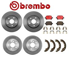 For Toyota Solara Front Disc Rotors Ceramic Pads Rear Drums Shoes Set Kit Brembo