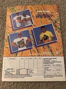 1989 NWA WCW Wrestling Merchandise Print Ad Shirt ROAD WARRIORS STING STEAMBOAT