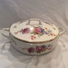 Epiag Fine China pattern 5748 Serving bowl with Lid made in Czecholovicia