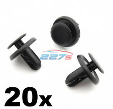20x MITSUBISHI 6mm plastica Trim Clips paraurti, griglia, WING Liner & splashguards