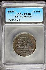 1834 - Icg Ef40 S.B. Schenck Civil War Token! #B23870