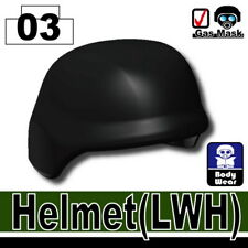 Black LWH Tactical Helmet for LEGO army military brick minifigures