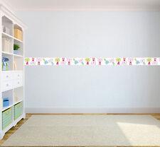 Cat Nap Design Children's Bedroom Self Adhesive Wallpaper Border Girls Nursery