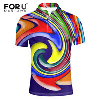 Mens Loose Fit Short Sleeve Polo Shirts Large Size Golf Tops Fashion Clothing