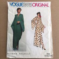 Vogue 1536 Pierre Balmain Sz 12 Sewing Paris Original Pattern Uncut FF Vtg Dress