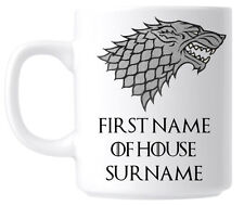 Personalised Stark Sigil Game of Thrones Mug Coffee Cup - Birthday Present Gift