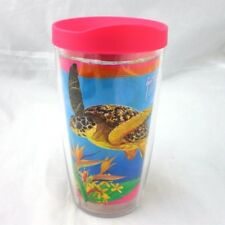 Tervis 16oz Tumbler Guy Harvey Colorful Sea Turtle Pink Lid New Bird of Paradise