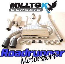 Milltek Audi Coupe UR Quattro 10v Turbo Exhaust System Res Downpipe Back Black