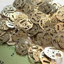 10 Watch Plates Parts Steampunk Gears Wheels Altered Art Vtg Watchmakers Lot