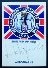 Jimmy Armfield Autograph England 1966 World Cup Signed Jules Rimet Card