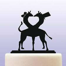 Giraffe Cow & Bull Bride/Groom Acrylic Wedding Cake Topper Keepsake Decoration