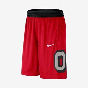 Ohio State Buckeyes Nike Dri-Fit Basketball Shorts Red Mens XXL 2XL CD1973-657