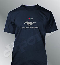 Camiseta personalizado Mustang S M L XL XXL hombre GT500 muscle coche