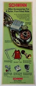 1972 SCHWINN accessories ad ~ SAFER, FUN-FILLED RIDE