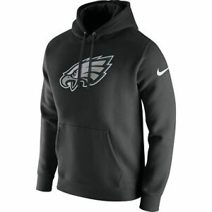 Men's Nike Philadelphia Eagles Pullover Fleece Club Hoodie Black/White