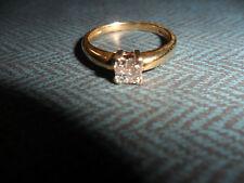 18,CT/750 ORO 0.20,CT anello di diamanti, 2.57,GMS, Taglia M = 6,1/4,USA, non di scarto