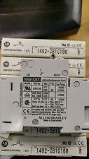 1492-CB1G100 QTY 6 SER B ENERGY LIMITING MINIATURE CIRCUIT BREAKER, 1 POLE,