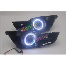 Fog Lights Lamp Kit +COB Angel Eye Bumper Cover Lens For Nissan Altima 2013-2015