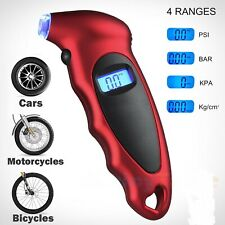 Tire Air Pressure Guage Digital Car Bike Truck Auto Lcd Meter Tester Tyre Gauge