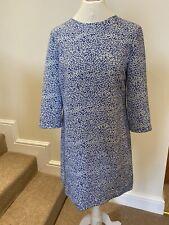 Ted baker Blue And White Fish Print Shift Dress- Medium