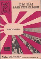 SHEET  MUSIC  //  MANFRED  MANN  --  HA !  HA !  SAID  THE  CLOWN