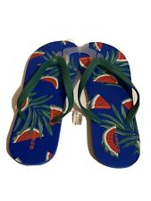 Nwt Mens Old Navy Royal Blue Watermelon Thongs Sandals Flip Flops 10-11 Summer