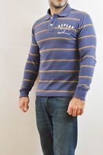 Replay Mens Long Sleeved Top Purple Blue Casuals 90s Striped M Beige Top quality