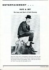 1968 Print Article of Faye & Bry the long and short of solid comedy