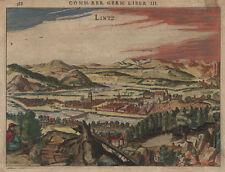 LINZ : Kupferradierung aus Bertius, 1616