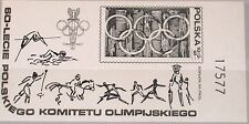 Poland pologne 1979 sd bloc 74 b136 Olympics 1980 Moscow rings sports MNH