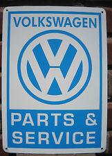 Volkswagen Parts & Service sign VW Bug Bus Bettle Mechanic Advertising Logo 10da