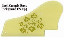Jack Casady Bass Pickguard Creme W/Gold ES295 Design for Epiphone Guitar Project