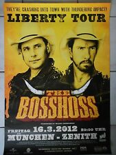 THE BOSSHOSS  2012  MÜNCHEN  orig.Concert-Konzert-Tour-Poster-Plakat DIN A1