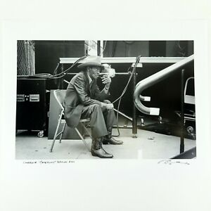 """Clarence """"Gatemouth"""" Brown Photo Print Signed/Dated Photographer Jérôme Brunet"""
