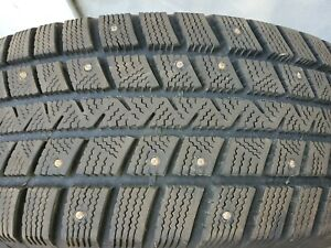 4QTY. Goodyear Winter Command  - 235/60R17 studded Tires USED LOCAL PICKUP ONLY