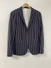 NEW Topman $280 Striped Sz:40R Super Skinny Blazer Suit Jacket Muscle Fit N228