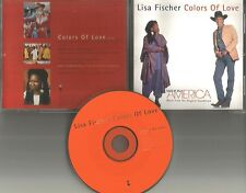 LISA FISCHER & DAVID FOSTER Colors of Love PROMO DJ CD single Whoopi Goldberg