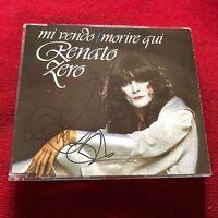 Renato ZERO > MI VENDO - MORIRE QUI personally signed rare cd singolo autografo