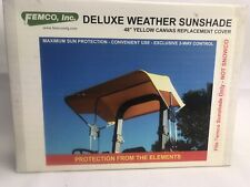 """Femco Weather Sunshade 48"""" Yellow Canvas Replacement Tractor Cover 2083 New"""