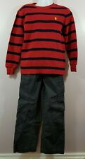 Polo Ralph Lauren Size 5 Jumping Beans M 5-6 Long Sleeve Striped Sweater & Pants