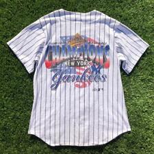 Rare VTG 90s Majestic New York Yankees 1996 World Series Baseball Jersey Shirt M