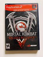 🔥Mortal Kombat Deadly Alliance( PS2  Complete Tested Sony PlayStation 2 Ps2)🔥