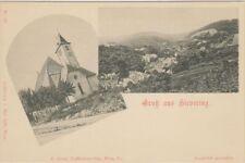 75142/10 - Gruß aus Sievering mit Kirche 19.Bezirk Wien um 1905